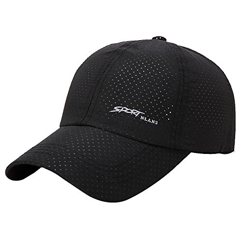 2019 New Baseball Golf Women Men Venting Hole Breathable Adjustable Quick Drying Snapback Shade Visor Sun Hat by Fulijie Black