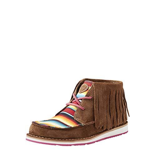 Ariat Women's Cruiser Fringe Work Boot, Dark Brown Suede, 6 B US