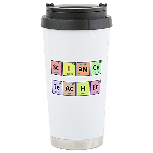 CafePress - Science Teacher Stainless Steel Travel Mug - Stainless Steel Travel Mug, Insulated 16 oz. Coffee Tumbler