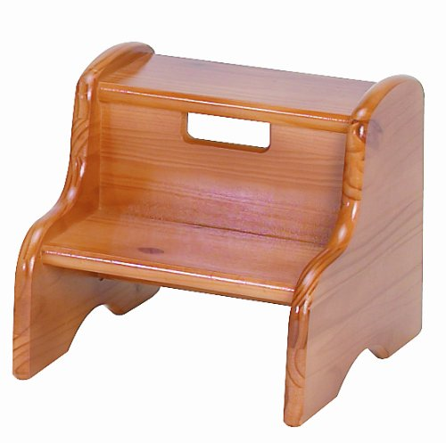 Oak Step Stool - Little Colorado Personalized Honey Oak Step Stool