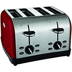 Oster 4-Slice Toaster, Metallic Red (TSSTTRWF4R-SHP)