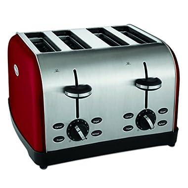 Oster TSSTTRWF4R 4-Slice Toaster, Red
