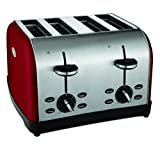 Best 4 Slice Toasters - Oster TSSTTRWF4R 4-Slice Toaster, Red Review