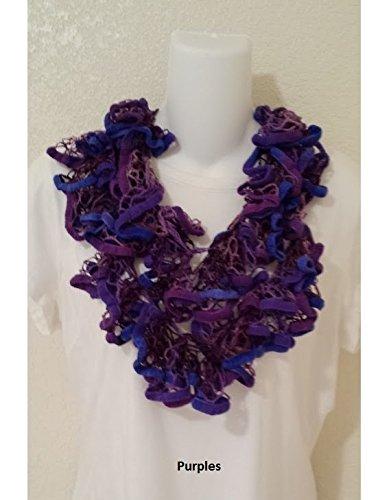 Amazon Purple Crochet Scarf Crochet Scarves Scarves For Women