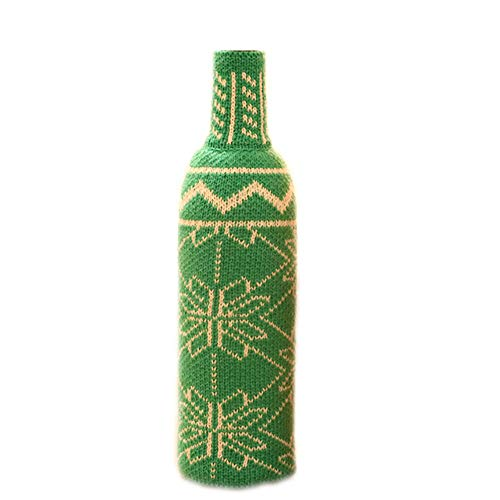 Wine Hold Bottle Cover -Vovomay Decoration Home Party Santa Claus Snowman Christmas (Green) -