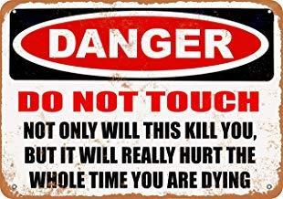 Cartel de Metal para Pared con Texto en inglés Danger This ...