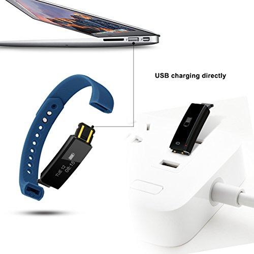 Fitness Tracker, MoreFit Slim HR Heart Rate Touch Screen Activity Tracker Wireless Smart Bracelet Pedometer