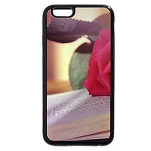 iPhone 6S / iPhone 6 Case (Black) Pink Rose Book