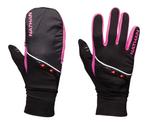 Nathan TransWarmer Convertible Glove/Mitt, Large, Black/Fluoro Fuchsia ()