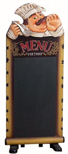 Standing Chef Menu Chalkboard