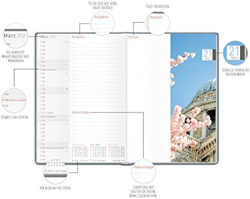 Wochenplaner mit Gummiband /& Einstecktasche Terminkalender 21 Glitzerregen klimaneutral /& nachhaltig Dez Terminplaner 18 Monate: Juli 20 Ch/äff-Timer Premium Kalender 2020//2021 A5