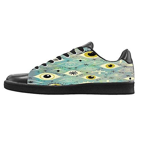 Dalliy augen muster Mens Canvas shoes Schuhe Lace-up High-top Sneakers Segeltuchschuhe Leinwand-Schuh-Turnschuhe D