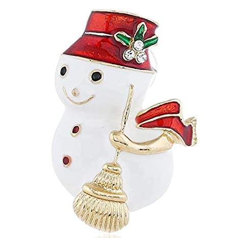 Amazon.com: New Fashion Christmas Kawaii Snowman Brooches ...