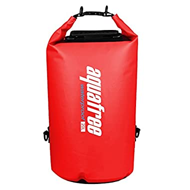 Aquafree Dry Bag, 20L Red Dry Backpack, Comfortable and Heavy-Duty Grab Handle & Shoulder Strap, BEST Material Waterproof Backpack, Quality Roll Top, 100% Waterproof