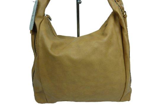 MAHEL KIM AAJ35, große Schultertasche, Damen Shopper bag 36x32x16 cm braun schlamm clay