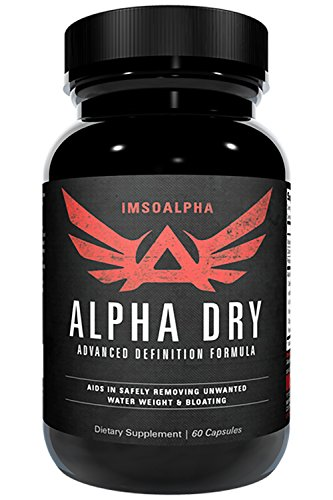 IMSOALPHA | ALPHA DRY | All Natural Definition Formula | Remove Unwanted Water Weight & Bloating | 60 Capsules