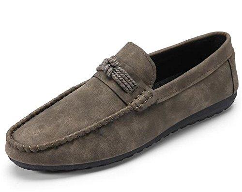 WUIWUIYU Homme Slip-on Oxford Loafer Chaussure Gris 8mtjURB