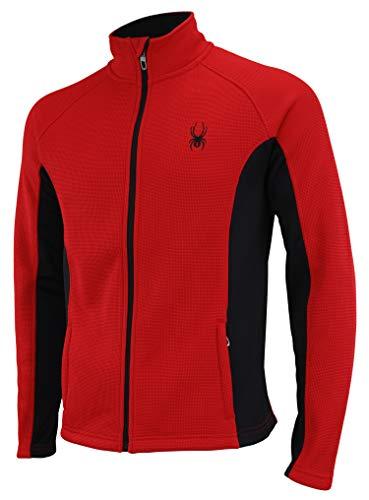 Spyder Men's Constant Full Zip Sweater,Racing Red/ Black,Medium