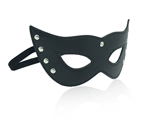 Halloween cosplay BDSM Flirting adult supplies Extreme temptation sexy cat queen black leather patch appeal queen nightclub accessories Eye (Sophisticated Halloween Nails)