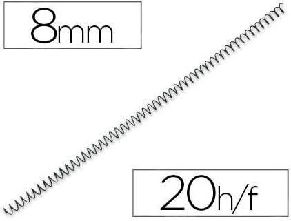 /25/spirales m/étalliques pour reliure 59/trous Fellowes/ pas 5: 1 couleur noir