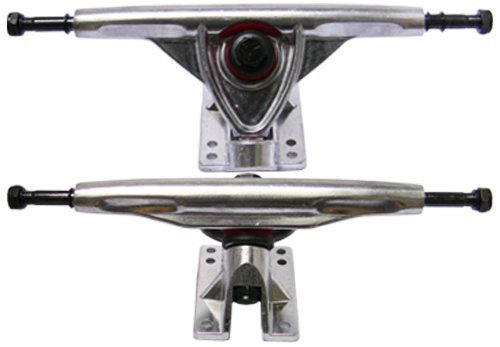 SCSK8 180mm Longboard Truck Set of 2 Reverse Kingpin (Pair) (Silver)