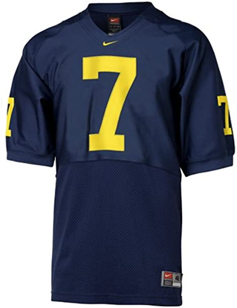 juego lista alimentar  Amazon.com : Nike Michigan Wolverines #7 Navy Authentic Football Jersey  (60) : Clothing