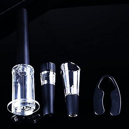 Sacacorchos de Camareros 4 PCS Conjunto de abrelatas de vino Botella de presión de aire Botella de sacacorchos de abotaje de vino Kit de abrigo de vacío Tapón de vacío Viernes de vino Accesorios Abrid