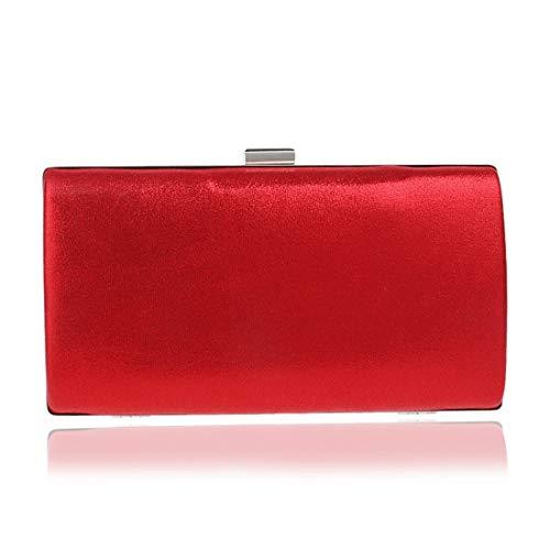 Gljjqmy Fashion Borse Pochette Dress Red Sera Banquet Party Dinner Bag Da rRqrtPa