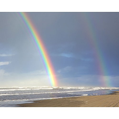 8x10-beach-photo-double-rainbow-shores-by-travlin-photography-rainbow-photo