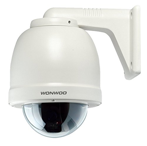 Wonwoo EWSJ-363HN Outdoor Wall Mount PTZ Dome Camera; 1/4