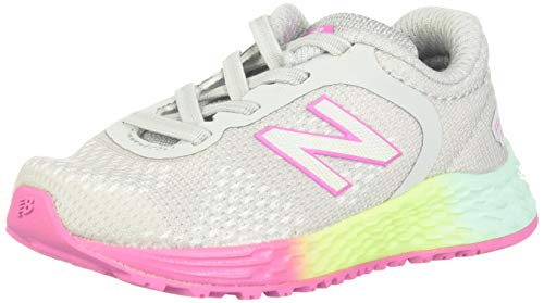 new balance Girls' Arishi V2 Running Shoe,LIGHT ALUMINUM/RAINBOW,10 W US Toddler
