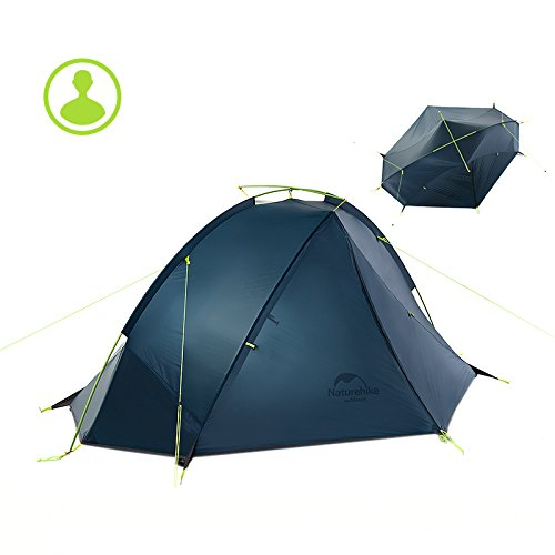 Naturehike 1/2 Person Ultralight Backpacking Tent Outdoor Camping Single Layer Waterproof Tent(Dark blue and Green color options)