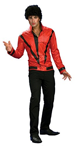 [Michael Jackson Red Thriller Jacket, Adult Large Costume] (Mj Thriller Halloween Costume)