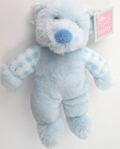 (Plush Blue Bear Rattle Russ Baby)
