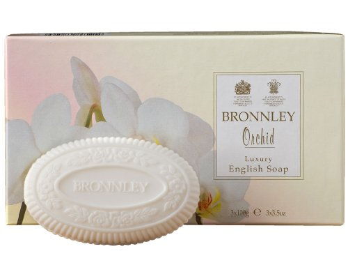 Bronnley Box of 3 x 100g Tablet Soaps Orchid by Bronnley