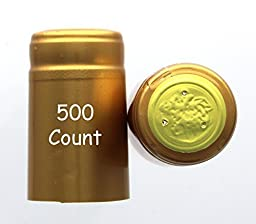 Gold PVC Shrink Capsules-500 Count