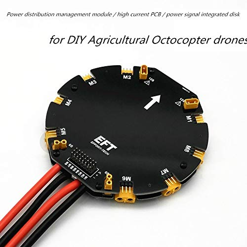 Part & Accessories EFT Power Distribution Management Module High Current PDB for DIY Agricultural Drone Octocopter - (Color: ESC Signal Backward)