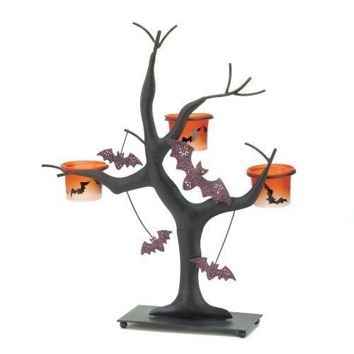Koehler Home Decor Spooky Halloween Bat Candle Tree