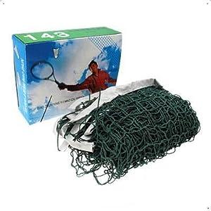 SODIAL(R) Deluxe Badminton Net Green