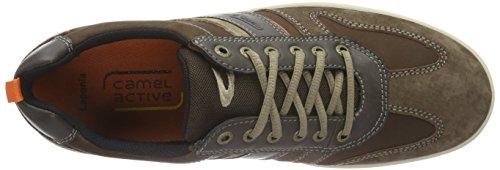 camel active Laponia 40, Zapatillas para Hombre Marrón (mocca/espresso/taupe 04)