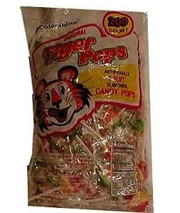 Tiger Pops Fruit Flavor Lollipops