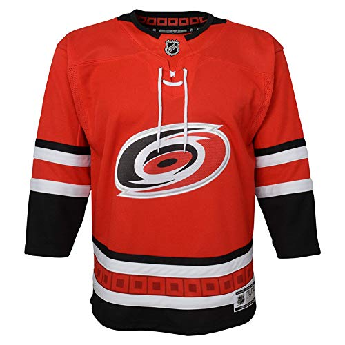 (Carolina Hurricanes NHL NHL Youth Premier Blank Red Jersey (S/M) )