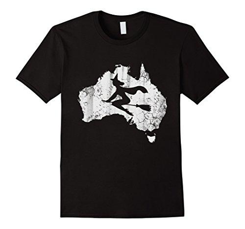 Mens Costumes Australia (Mens Halloween Australia Witch Costume Shirt Large Black)