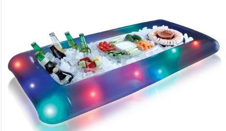 Hinchable enfriador de buffet con iluminación color luces LED ...