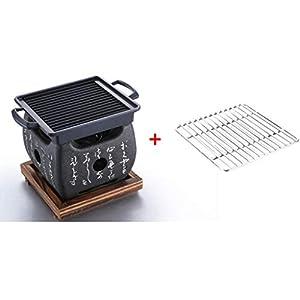 MH BBQ Grill - Mini Barbecue casa Carbone Piccolo Barbecue Stufa Mini Barbecue Attrezzi da Campo Barbecue in Carbonio… 2 spesavip