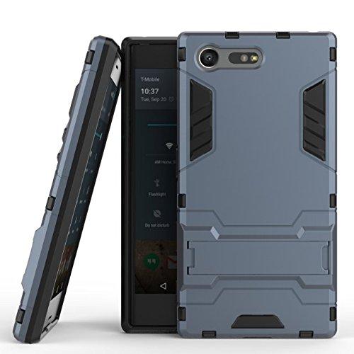 Slim Armor TPU/PC Cover Case for Sony Xperia X (Black) - 4