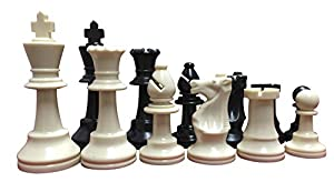 "ChessCentral's Ultimate Chess Set Package: Triple-Weighted Heavy Chess Pieces, 2 Extra Queens, Green Roll-Up Vinyl Chess Board, Green 24"" x 9"" Carrying Case and Instructions on How to Play Chess"
