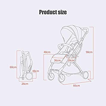 Blue Baby Travel Stroller Childrens Holiday Pushchair Buggy Cabin Size Airplane Ready Pram Toddler 2019