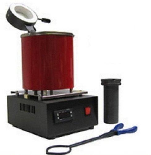 Gowe® Automatic Electric Melting Furnace Silver & Gold Pour Bar +2Kg Crucible+ tong - Digital Controler 110V &220V