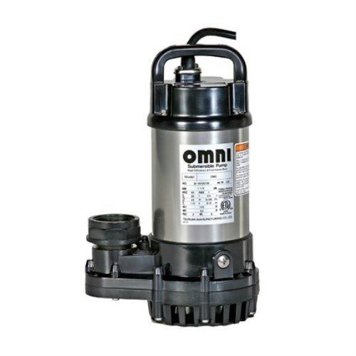 Tsurumi 2OM (OM-3) 1/5hp, 115V, Submersible Pond & Waterfall Pump, Stainless Steel, 2640 GPH, 1.5